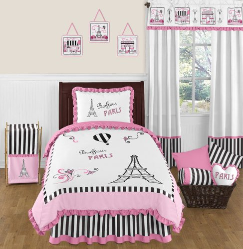 Paris themed bedding sets girls