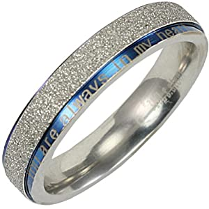 Stainless Steel Sparkle 5 8mm Band Ring