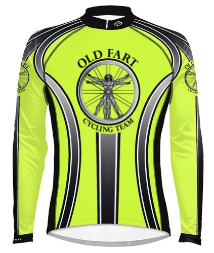 Primal Wear Old Fart Vitruvian Man Cycling Jersey Men's Large Long Sleeve High Visibility (Old Cycling Jersey compare prices)