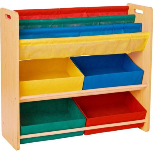 Essentialz Children's Toy Storage and Bookcase Unit with Microfibre HSB Cleaning Glove