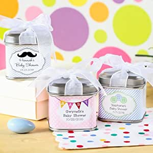 personalized square baby shower favor tins health