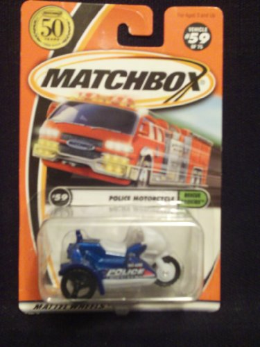 Matchbox Rescue Rookies #59 Police Motorcycle