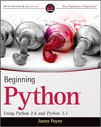Beginning Python: Using Python 2.6 and Python 3.1