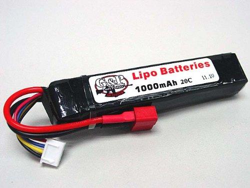 G&P EP Power 11.1V 1000mAh 20C LiPo Li-Po T-Plug Battery BAT003