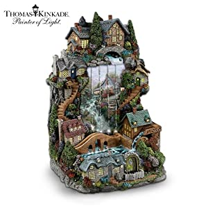 Thomas Kinkade's Tranquil Waters Tabletop Fountain by The Bradford Exchange