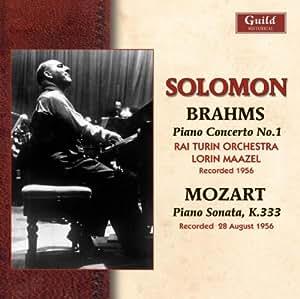 Brahms: Piano Cto N°1 ; Mozart: Piano Sonata, K333