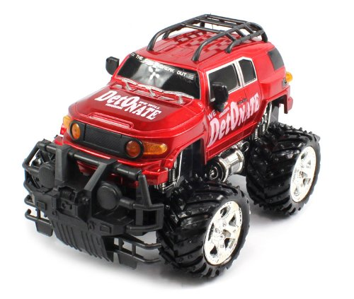 BIG SIZE RECHARGEABLE Electric Full Function 1:16 Conqueror Toyota FJ Cruiser RTR RC Truck (COLORS MAY VARY) Remote Control Monster Truck!