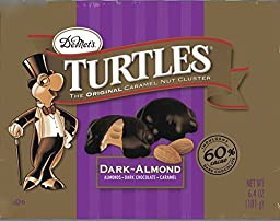 DeMets Turtles Dark Almond Caramel Nut Cluster with Dark Chocolate, Almonds, and Caramel