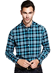 Pure Cotton Large Checked Shirt