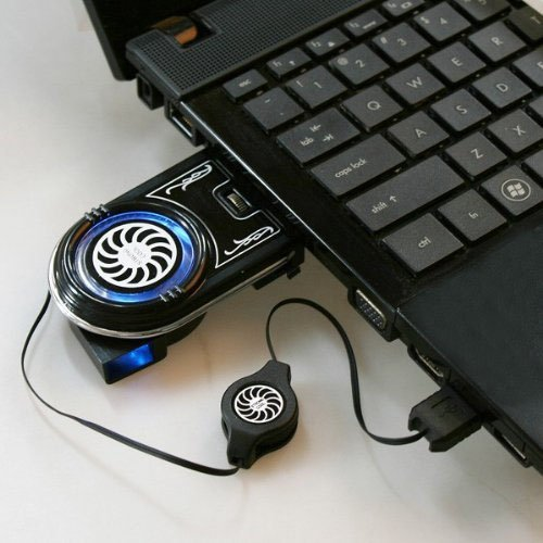 MuchBuy Mini USB Vacuum Air Extracting Case Cooler Fan for Notebook/Laptop, Compact, Stylish, Innovative Design (Usb Computer Mini Vacuum compare prices)