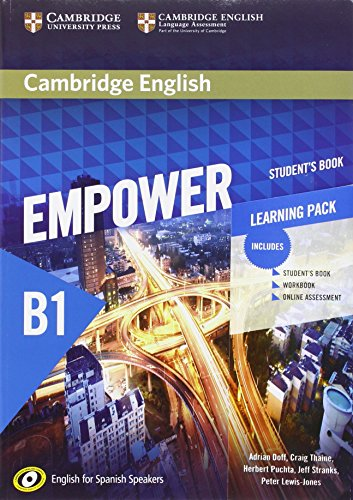 Cambridge English Empower for Spanish Speakers B1 Learning Pack (Student's Book with Online Assessment and Practice and Workbook)