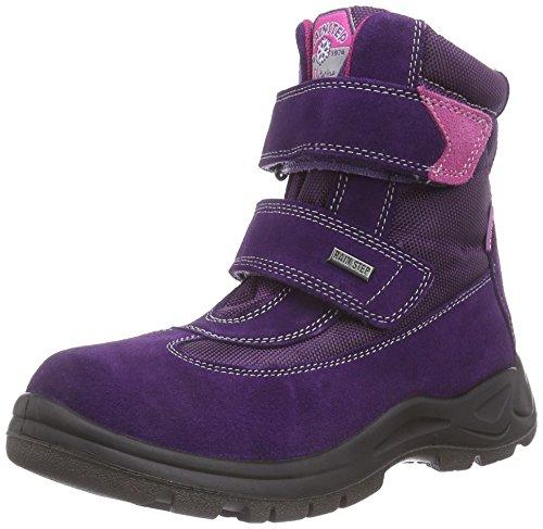 Naturino NATURINO LIVIG, Stivaletti da neve a gamba corta, imbottitura pesante Ragazza, Viola (Violett (Violet 9104)), 23