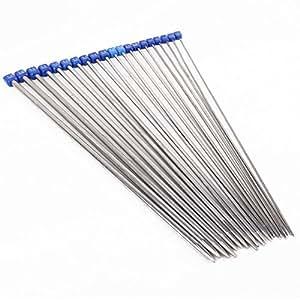 10 paires Aiguilles à tricoter acier inoxydable 36cm / 2-7mm