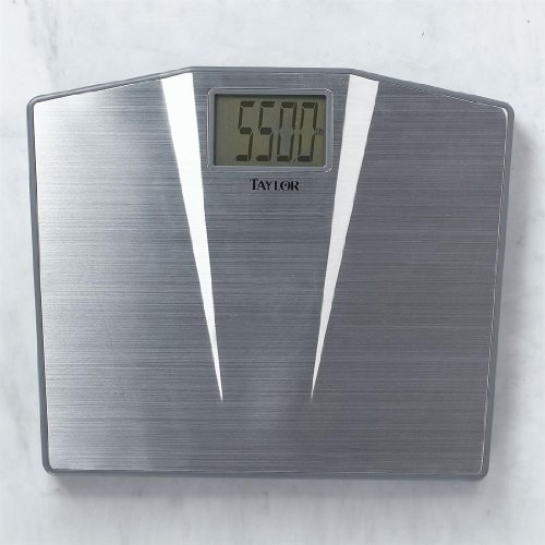 Image of Plus+Size Living BrylaneHome Digital Brushed Stainless Steel Scale (B00AVK76B0)