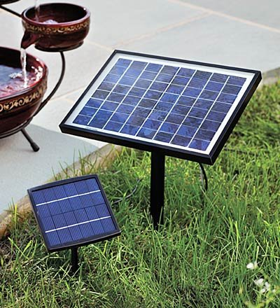 Small solar powered fountain pump 1 4 watts fountain for Solar water filter for ponds