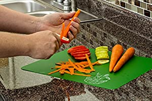 #1 Best Cutting Mat Set. Colorful Kitchen Cutting Board Set, Super Easy Clean Modern Cutting Boards, Nice Flexible Non-Stick Surface