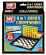M.Y 6 in 1 Games Compendium In Colour Hanging Gift Box *Travel Camping* PRESENT