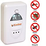iCooker® Pest Control Mosquito Repellent - Ultrasonic Pests Offense Repeller Products for Cockroach , Rodents Roaches Ants Spiders Fleas Mosquitoes Dummies - Mice Repeller - Electronic Wave with Best Motion Sensor - Chemical-Free-Great Work In Indoor Home Againts Mouse