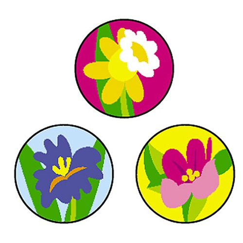Spring Flowers superSpots Stickers