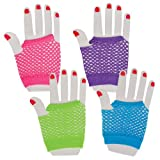 Assorted Fingerless Diva Fishnet Wrist Gloves (1 dz)