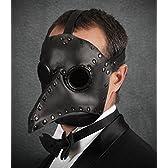 レザー製 ペストマスク ブラック Plague Doctor mask [並行輸入品]