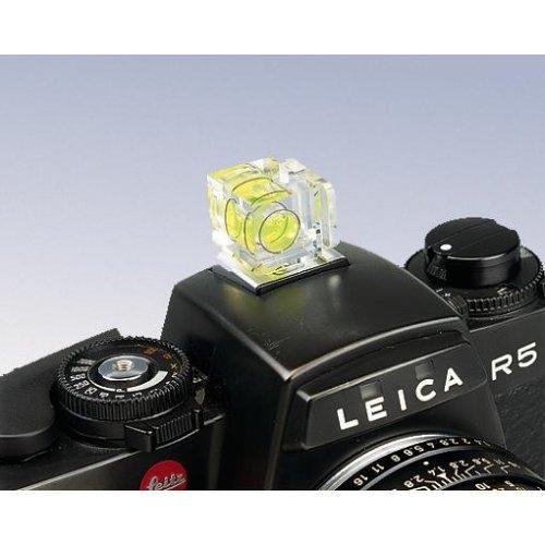Hama Kamera-Wasserwaage mit 1 Libelle, Für Standard-Blitzschuh, Transparentes Gehäuse