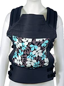 BabyHawk Oh Snap! Baby Carrier, Aqua Falling Leaves