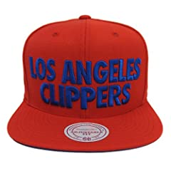 Los Angeles Clippers Mitchell & Ness Title Block Retro Strapback Cap Hat