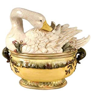 Goose Tureen w  Ladel by Wild Game