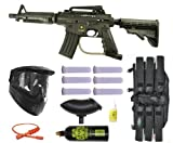 US Army Alpha Black Tactical Paintball Marker Gun 3Skull Mega Set - Black