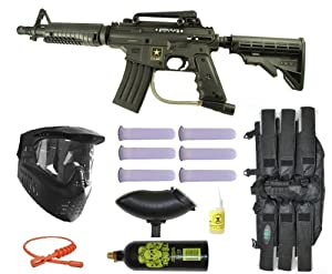 Buy US Army Alpha Black Tactical Paintball Marker Gun 3Skull Mega Set - Black by Tippmann