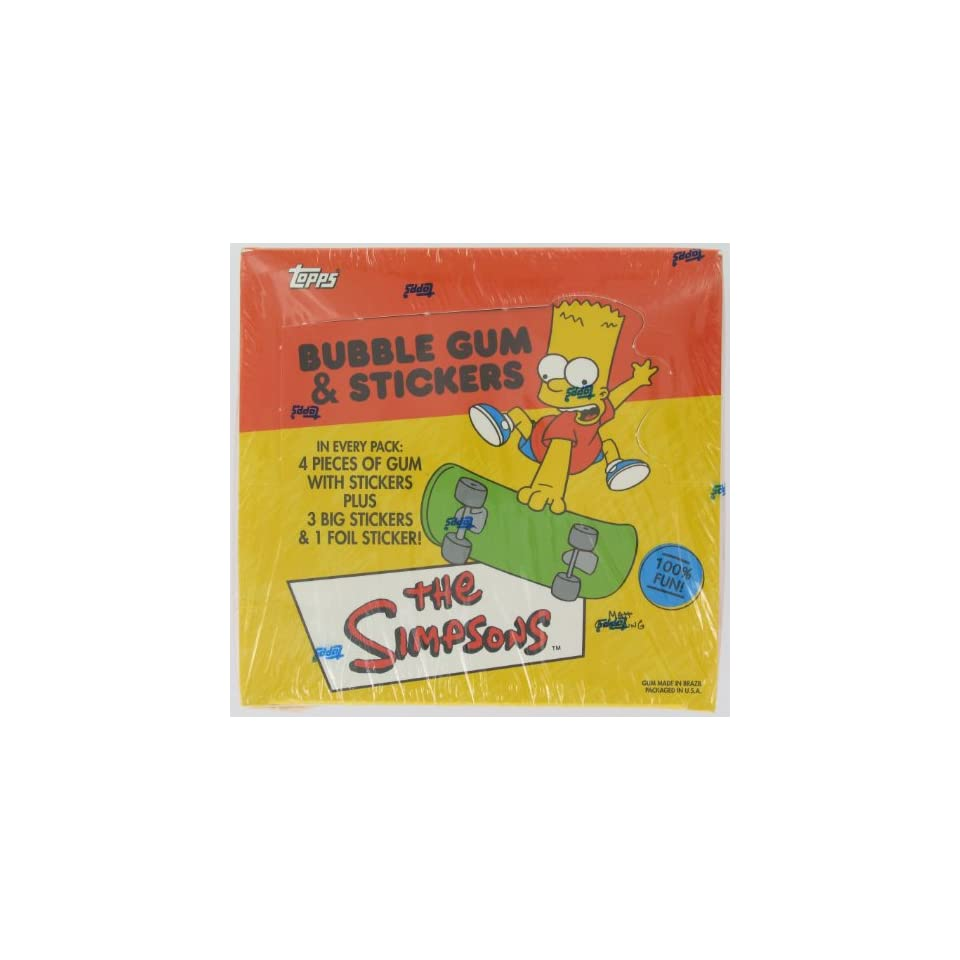 The Simpsons Trading Card Stickers Box 24 Packs Per Box