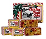 Fruit Cake Boxed Three 1-lb. Dark Recipe Claxton Fruitcake