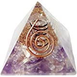 FairyBells Kart Energised Amethyst Orgonite Pyramid FBKAC108