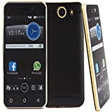 Banpa® Quadband Dual Sim GSM/2G Unlocked 3.5 Inch Capacitive Touch Screen Featured Phone with Bluetooth Enabled Camera FM Radio JAVA Games (Black)