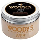 Woody's Men Hair Styling Web Pomade Matte Finish Wet Or Dry Hair Crème Gel 96g