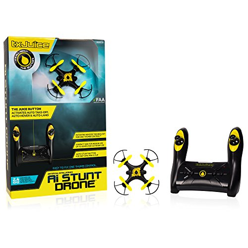 TX Juice Ai Stunt Drone - Quadcopter with Patented AI for Auto take off, Auto Hover and One Thumb Control JungleDealsBlog.com