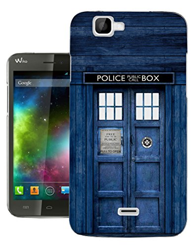 567 - Doctor Who Tardis Police Call Box Design Wiko Rainbow Fashion Trend Gel Rubber Silicone Case Caso / Cover copertura posteriore