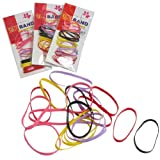 80 Pcs Assorted Color Elastic Hair Rubber Band Ponytail Holders for Girls