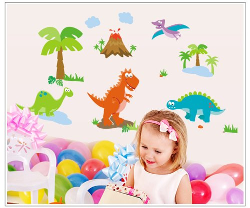 Home Decor Decals Poster House Wall Stickers Quotes Removable Vinyl Large Wall Sticker For Kids Rooms Animals Dinosaur W-24 front-451705