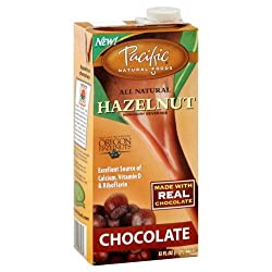 Pacific Natural Foods Hazelnut Non-Dairy Beverage, Chocolate, 32-Ounce Containers (Pack of 12)