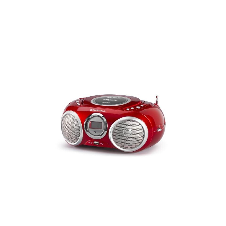 MP3, USB 2.0 AudioSonic CD-571 CD Stereoradio Silber