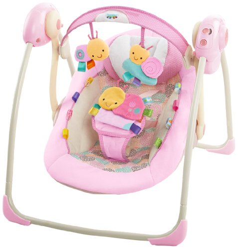 Taggies Portable Swing, Cozy Posies front-545754