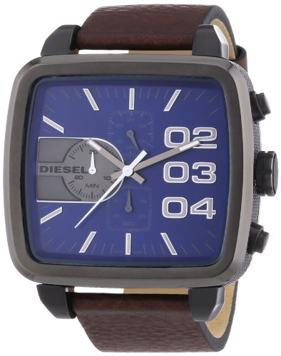 beseriet diesel dz4302 montre homme quartz chronographe bracelet cuir marron. Black Bedroom Furniture Sets. Home Design Ideas