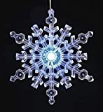 """Pack of 4 Large Lighted LED Snowflake Christmas Window Decorations 22.25"""""""