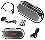 Full HD Spy Cam Wecker Clock Uhr Spion Mini Kamera HD DVR 8 GB SD Karte Set