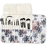 Imported 12Pcs Professional Make Up Cosmetic Makeup Brushes Kit Set With Case Black