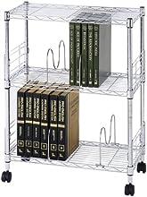 ルミナス フィールシリーズ ポール径19mm ブックシェルフ 3段 幅59.5×奥行29.5×高さ76cm MD6080-3B
