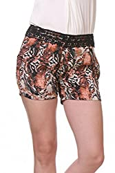 Tiger Print Relaxed Fit Shorts