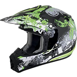 AFX FX-17 Off-Road Youth Motorcycle Helmet - Stunt Green Small - 0111-0725